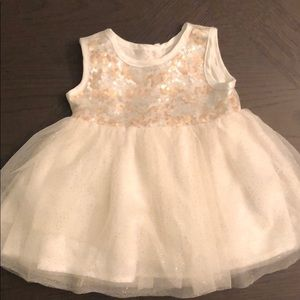 3-6M Shiny sleeveless dress